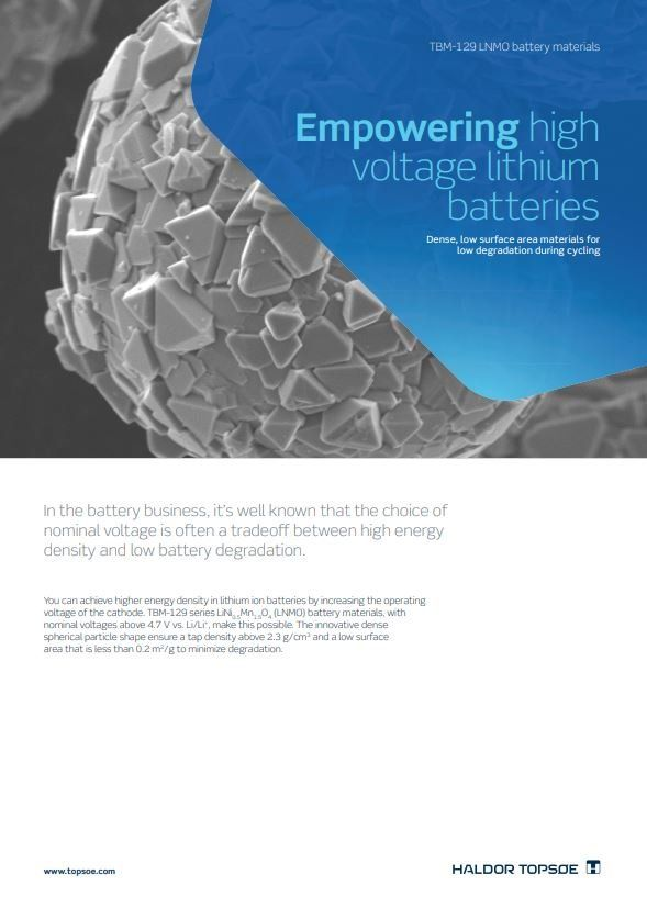 Empowering high voltage lithium batteries