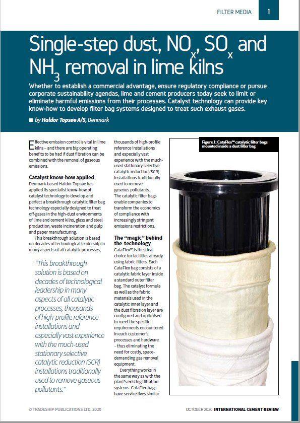 Effective emission control in lime kilns