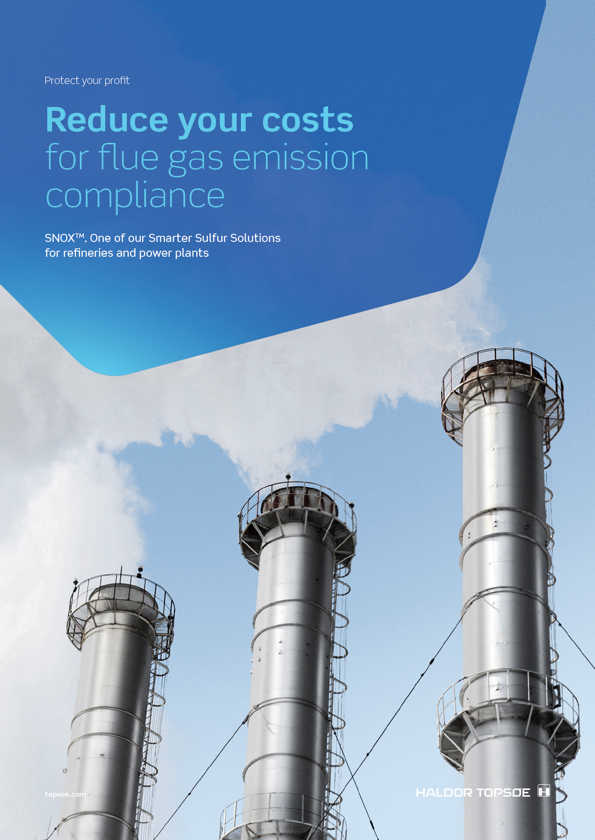 SNOX™ - reduce your costs for flue gas emission compliance