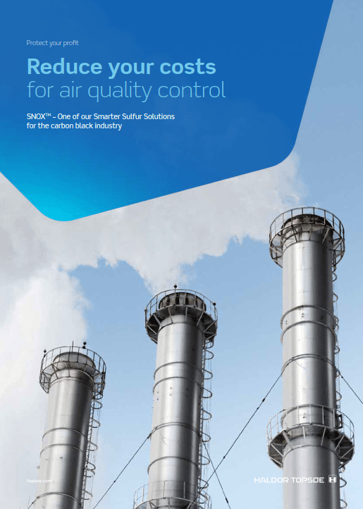SNOX™ for carbon black - reduce your costs for air quality control