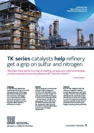 TK series catalysts help refinery get a grip on sulfur and nitrogen
