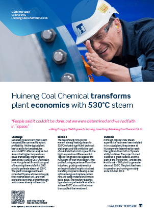 Huineng Coal Chemical transforms plant economics with 530°C steam