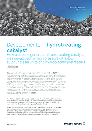 Developments in hydrotreating catalyst