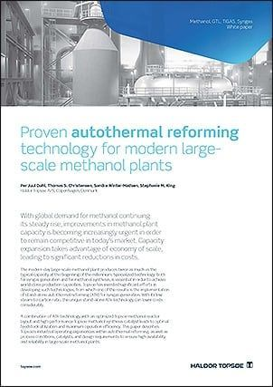 Proven autothermal reforming technology for modern large-scale methanol plant