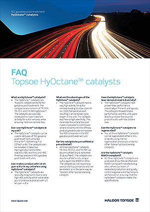 FAQ - Topsoe HyOctane™ catalysts