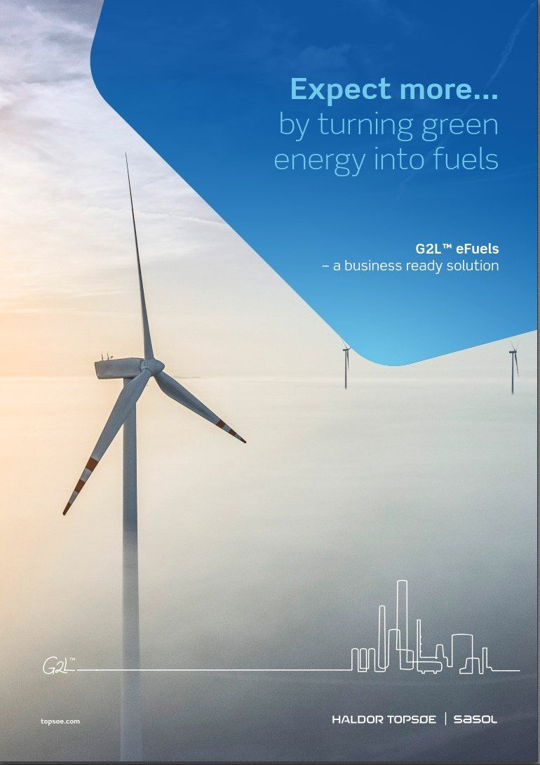 Expect more...by turning green energy into fuels with G2L™