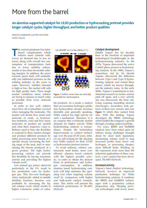 More from the barrel - article from PTQ 2021 Catalysis issue