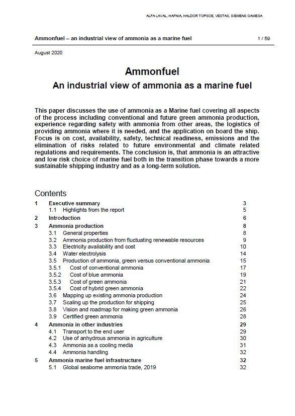Ammonfuel - An industrial view of ammonia as a marine fuel