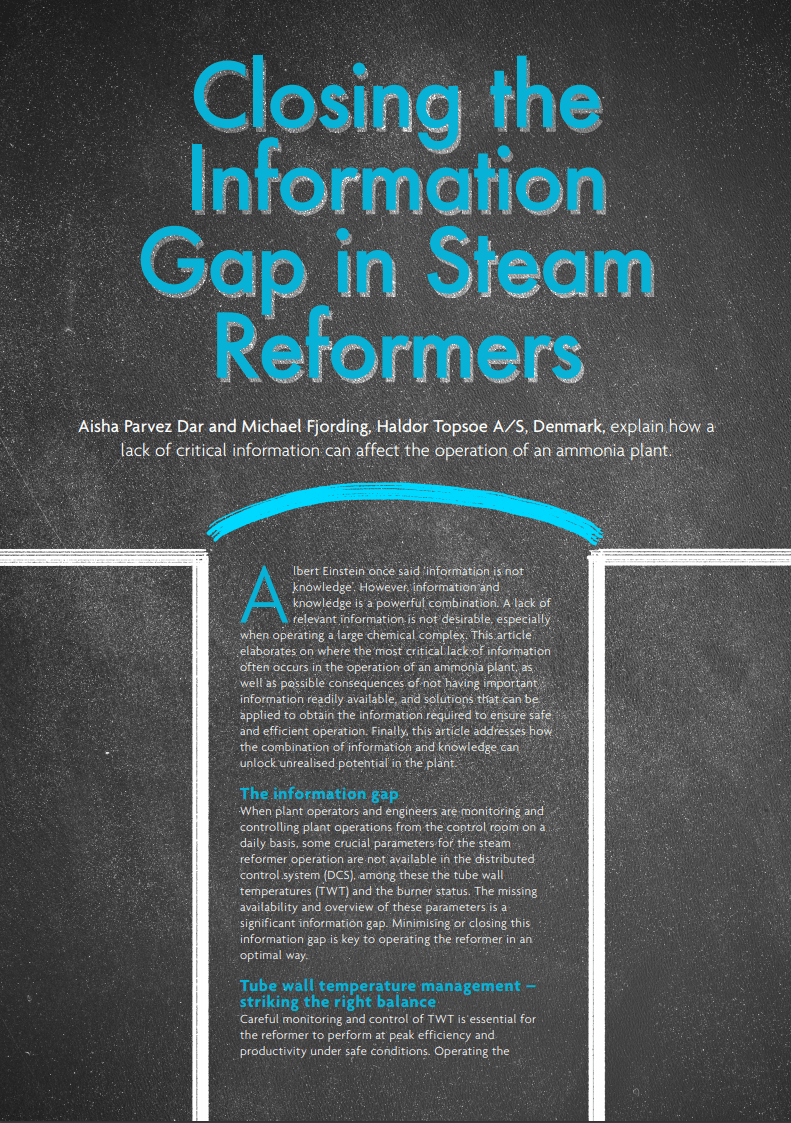 Closing the information gap in Steam Reformers