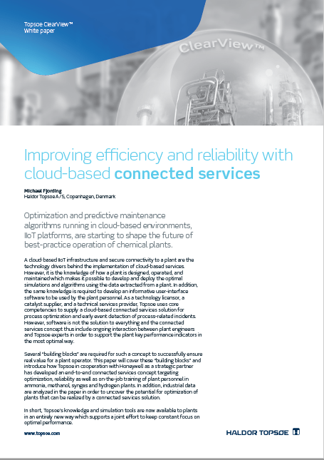 Improving efficiency and reliability with cloud-based connected services