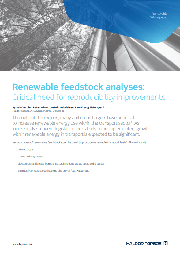 Renewable feedstock analyses: Critical need for reproducibility improvements